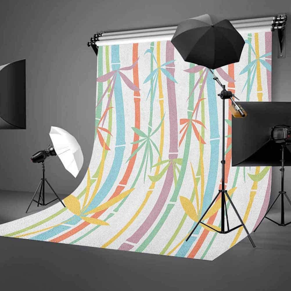 8x12 FT Vinyl Photography Background Backdrops,Artistic Doodle Style Botanical Leaves Pattern Shabby Artistic Ornamental Background for Child Baby Shower Photo Studio Prop Photobooth Photoshoot