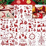 Konsait 12Pack Christmas Stencils Templates, Reusable Christmas Drawing Painting Template, Xmas Stencils for Greeting Cards, Albums, Scrapbook, Notebook, Journal, Wall Art Wood, Xmas Gift Home Decor