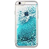 iPhone 7 case, iPhone 8 case Floating Quicksand Glitter Bling TPU case, Flowing Liquid Sparkle case for iPhone 7/8 4.7' (Turquoise)'