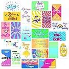 "100 pcs Motivational Quote Cards - Notecards for Encouragement, Kindness, Gratitude, Appreciation, Motivation, Mindfulness & Affirmation - Business Card Size 2"" x 3.5"""