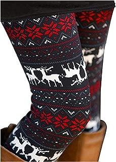 reindeer print leggings