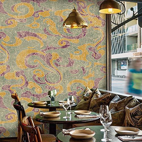 ClothHouse VintagePapel Pintado Pared Flores AntihumedadAesthetic, 0.53M×10M=5.3M²/Roll, VinilicoWallpaper para Dormitorio SalonMuebles,2#