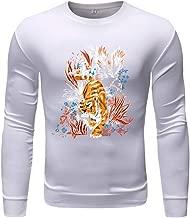Mens Slim Fit Soft Cotton Pullover Light Crew Neck Longsleeve, MmNote Lightweight Solid Soft Feshion Print Longsleeve