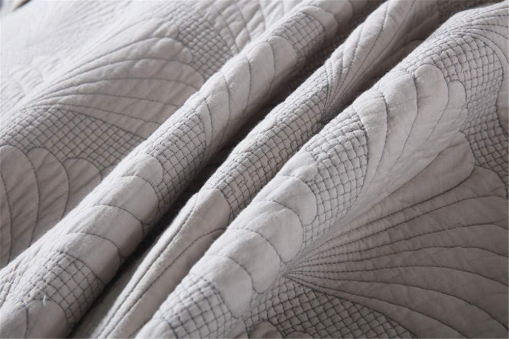 Set 3Pcs Couvre-Lit Piqué Palm Relief 230X250cm Avec 2 Taies D'oreiller 50X70cm, Réversible En Drap Ou Couverture,Rose Light Geay