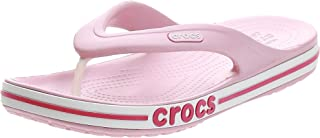 Crocs Unisex Adults Men's and Women's Bayaband Flip Flop   Casual Beach Sandal   Shower Shoe