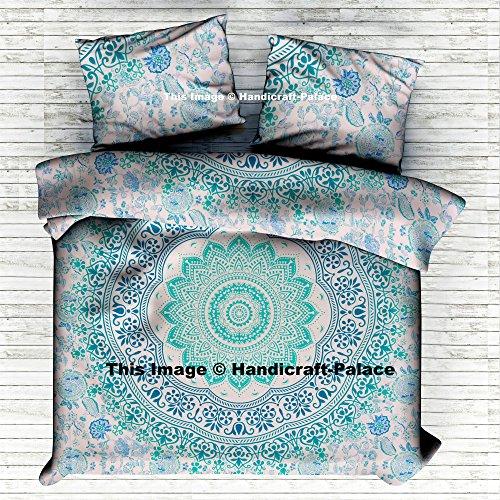 Funda de edredón de Ombre Mandala doona, Indian algodón colcha, manta de garabato cubierta manta Reina Tamaño Colcha juego de cama funda nórdica para cama por handicraft-palace