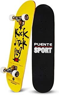 YF YOUFU Skateboard Complete, 31 Inch Pro Skateboards, Tricks Skate Board Beginners- 7 Layer Canadian Maple Wood Double Kick Concave Skateboards