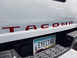 EyeCatcher Tailgate Insert Letters fits 2016-2020 Toyota Tacoma (Red)