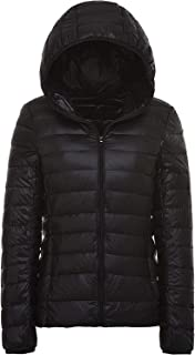 sunseen Women's Winter Down Coat Puffer Jacket Packable Lightweight Hooded Slim Warm Outdoor Sports Travel Parka Outerwear