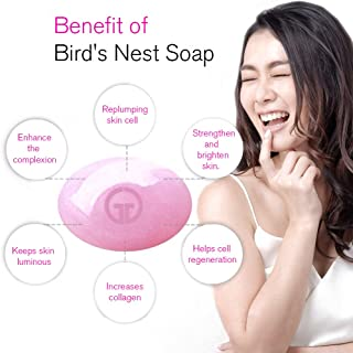 Bird Nest cleansing and makeup remover - 100% natural organic soap bar - remove makeup instantly - Asian Secret for Beauty :Bird's Nest