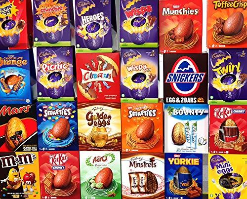3 huevos de Pascua grandes al azar surtidos Lucky Dip Chocolate Selection Box Regalos