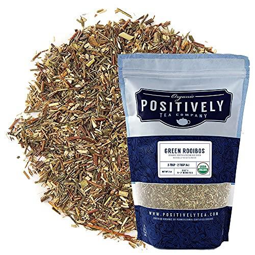 Organic Positively Tea Company, South African Green Rooibos Tea, Loose Leaf, 16 Ounce