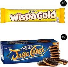 McVities Jaffa Cakes Two Boxes + Cadbury Wispa Gold | Total 8 bars of British Chocolate Candy - Cadbury Wispa Gold 48g each