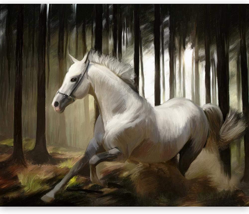 Mural Sale SALE% OFF Wall Photo 3D White Horse-250x175CM Award Modern Natural