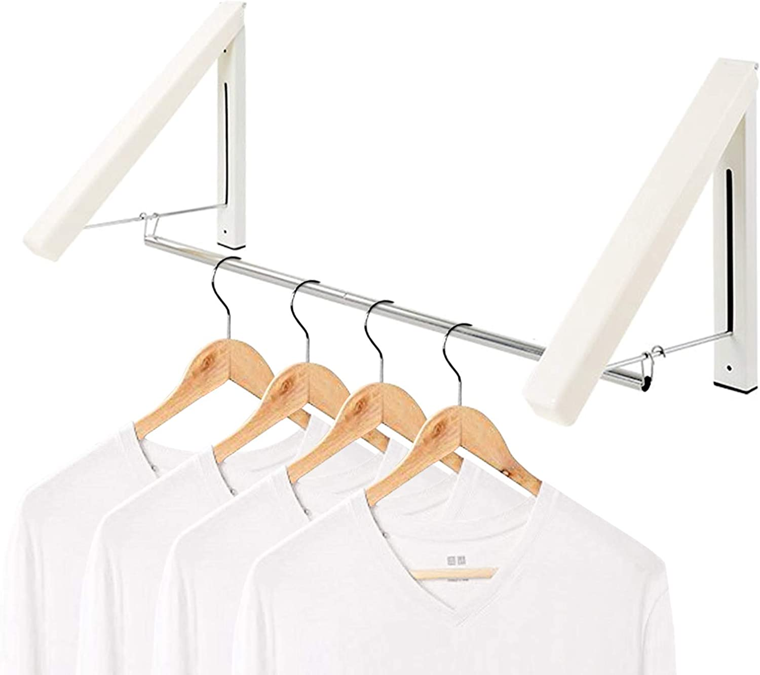 LANRCYO Indoor Outdoor Wall Mounted Folding Shipping included New color Rack- Clothes Drying