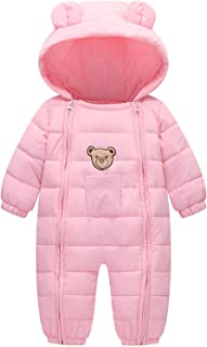Ohrwurm Infant Toddler's Onesie Down Jacket Baby Cute Zipper Long Sleeve Winter Snowsuit