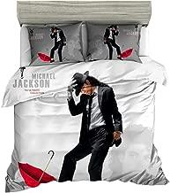 Jameswish Dancing Michael Jackson Duvet Cover Set 3D Printing Bed Cover Set Lightweight Microfiber Polyester 3PC Bedding Set(1Duvet Cover and 2Pillowcases)