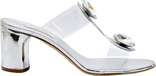 Casadei Damen 1M470M0601Y958016 Silber PVC Sandalen