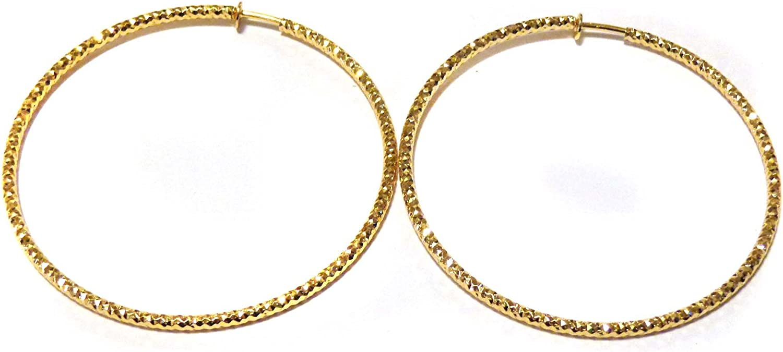 Clip on Earrings Hypoallergenic Hoop Earrings Gold Tone 3 inch Hoop Earrings