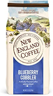 New England Coffee Blueberry Cobbler Medium Roast Ground Coffee 11 oz. Bag