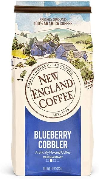New England Coffee Blueberry Cobbler Medium Roast Ground Coffee 11 Oz Bag