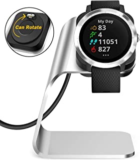 QIBOX Vivoactive 3 Charger Stand, USB Charging Dock Cable Compatible with Garmin Vivoactive 3 GPS Smartwatch (ONLY for Viv...