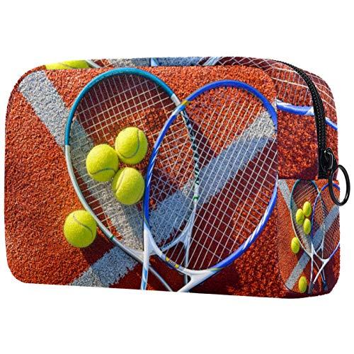 Bolsas de Aseo Raqueta de Tenis Hombres y Mujeres Bolsa de Almacenamiento de Viaje Suave al Tacto de Impresa Personalizada 18.5x7.5x13cm