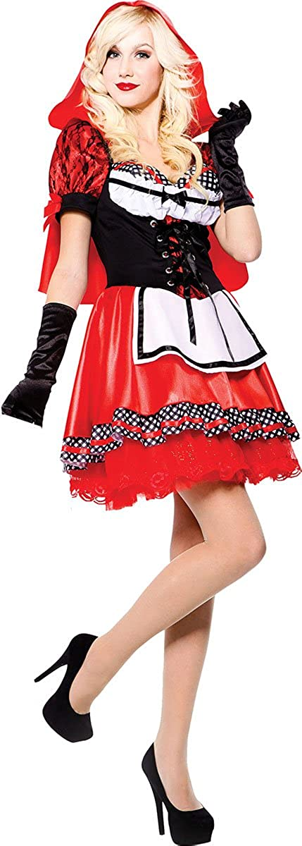Recommended New item Women's Fantasy Halloween Fancy Dress Hood Party Swee Outfit Red