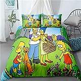 WFBZ Simpson Bettbezug Bettwäsche Set - Bettbezug