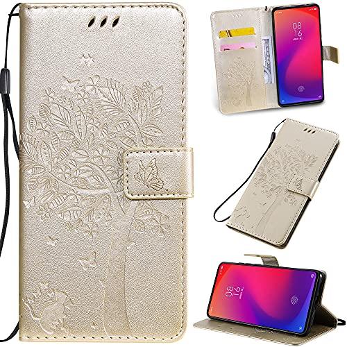 HUANGTAOLI Funda de teléfono con tapa para Motorola One Fusion Plus, PU cuero cartera ranuras para tarjetas cierre magnético función Kickstand cubierta de protección (6.5 pulgadas)