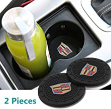 Auto sport 2.75 Inch Diameter Oval Tough Car Logo Vehicle Travel Auto Cup Holder Insert Coaster Can 2 Pcs Pack Fit Cadillac Accessories