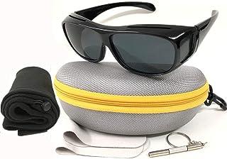 HD Sunglasses Night Driving Glasses Anti Glare Polarized for Women and Men Fit Over Prescription Glasses