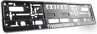 Kennzeichenhalter Freistaat Bayern, Universell, für Vorne und Hinten, Stabil und Witterungsbeständig