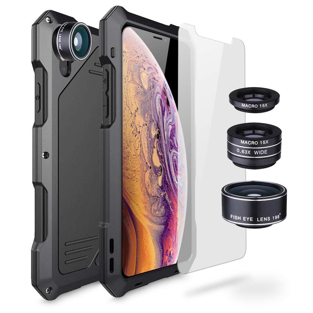 Olixar Titan Clip Armour Protective Case Compatible with iPhone X/XS - Shock Protection - Tough Protective - Armour Case - Gunmetal
