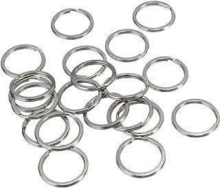 Black Metal Key Ring Split Rings /Ø 30mm UOOOM 20pcs