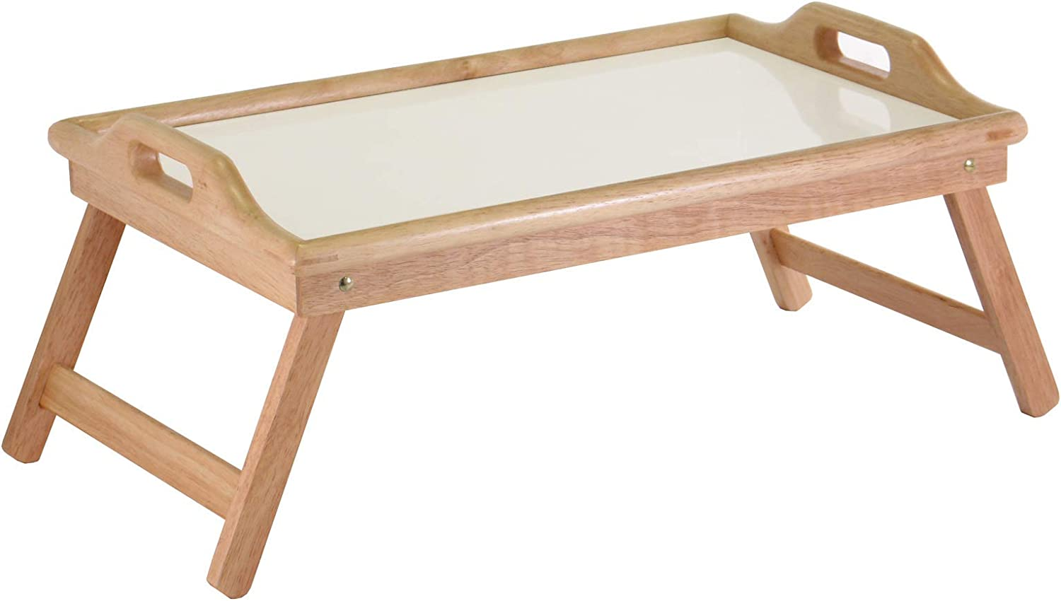 Wood Sherwood Serving Bombing free shipping Breakfast Bed White Tray National products Natural
