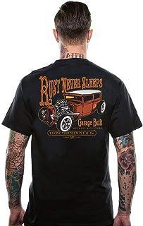 Lucky 13 Men's Rust Never Sleeps T-Shirt Black