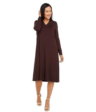 Eileen Fisher V-Neck Calf Length Dress Women