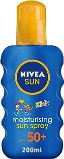 NIVEA, Sun Spray, Kids Moisturizing, SPF 50+, 200ml