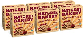 Nature`s Bakery Oatmeal Crumble Bars, Cherry, 6- 6 Count Boxes (36 Bars), Vegan Snacks, Non-GMO