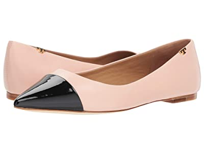 Tory Burch Penelope Cap-Toe Flat (Sea Shell Pink) Women
