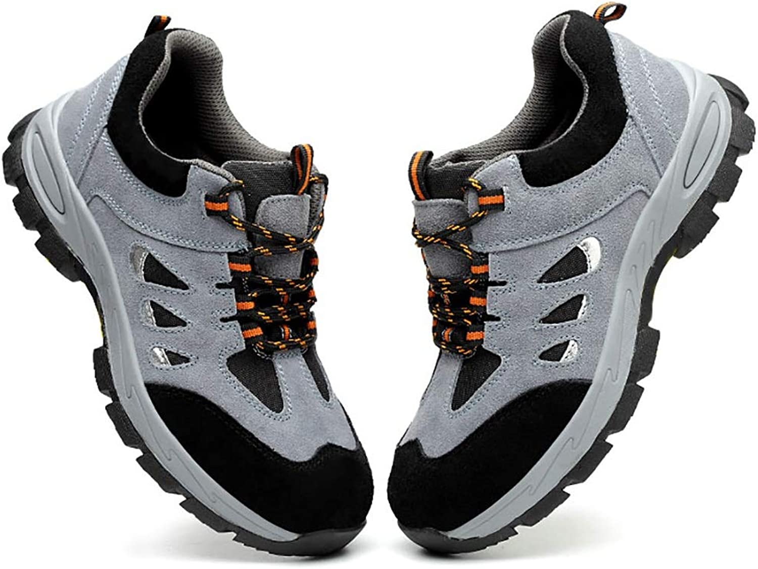 Yxwxz Gym wear for men Sneakers tendon summer breathable woven shoes labor insurance anti-mite puncture work shoes wear-resistant anti-slip on cloud running shoes (Size   40)