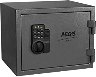 AEGIS 0.69 CF Fireproof Safe Electronic Security Cabinet- Safe and Lock Boxes with Keypad Lock and Keys, Money Box, Safety...