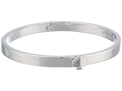 Kate Spade New York Heritage Spade Thin Metal Spade Button Bangle (Silver) Bracelet