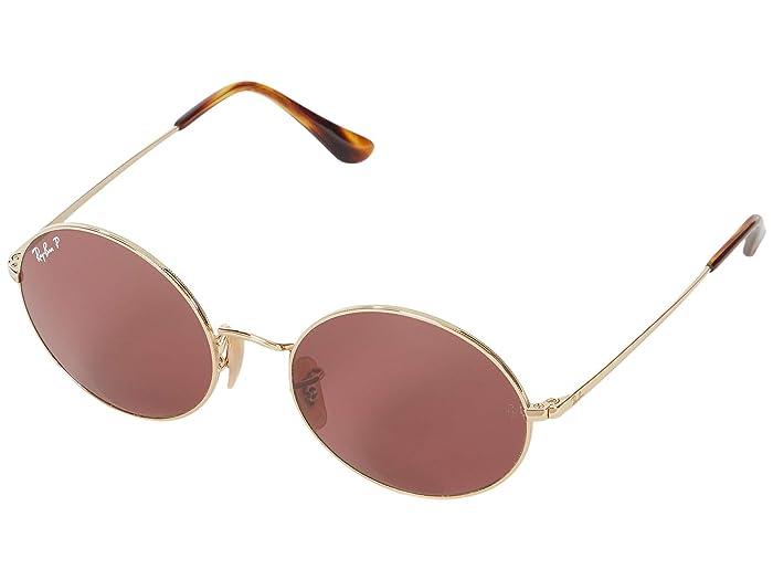 1960s Sunglasses | 70s Sunglasses, 70s Glasses Ray-Ban 54 mm RB1970 Oval Metal Sunglasses - Polarized GoldPolar Purple Fashion Sunglasses $154.00 AT vintagedancer.com