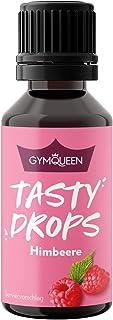 GymQueen Tasty Drops 30ml   Kalorienfreie, Zuckerfreie und Fettfreie Flavour Drops   Aroma Tropfen zum Süßen von Lebensmitteln   Geschmackstropfen ohne Künstliche Farbstoffe I Himbeere
