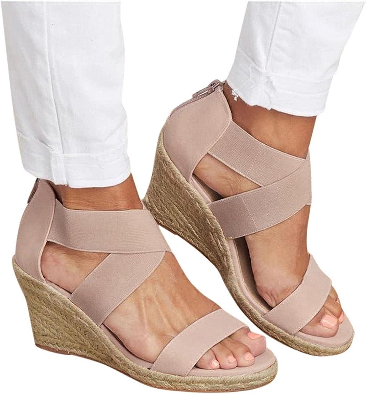 Toeava Wedge Sandals for Women Dealing full price reduction Summer Roman Colorado Springs Mall Platform Womens Wedg