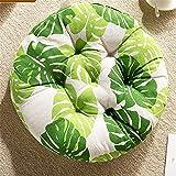Upcaremall - Cuscino rotondo per sedia da giardino, per interni ed esterni, per uso interno ed esterno, ideale come ufficio (foglia verde, 40 x 40 cm, 4 pezzi)
