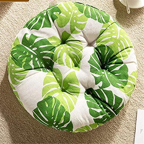 Upcaremall - Cuscino rotondo per sedia da giardino, per interni ed esterni, per uso interno ed esterno, ideale come ufficio (foglia, 40 x 40 cm, 2 pezzi)