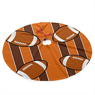 LUharbor Christmas Xmas Tree Skirt Treeskirt 35.5 Inch Cleveland Browns Fabric (3886) Tree Skirt